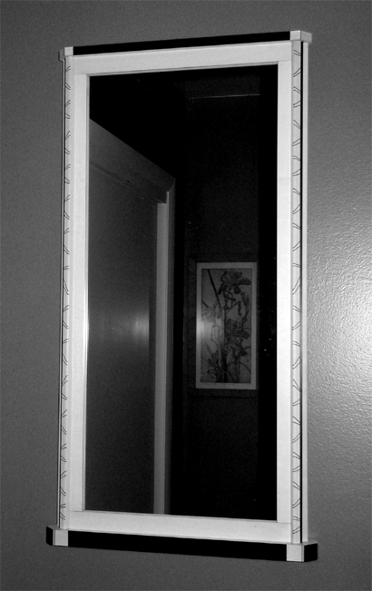Brush Strokes Mirror B&W $1,250