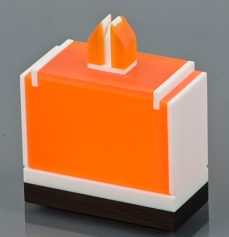Creamsicle - Corian, Plexi Glass - $340