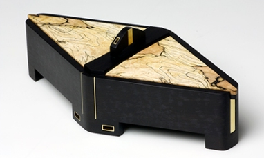 Diamond in the Rough - Ebony, Brass, Spalted Maple - $1,050